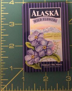 Alaska Forget Me not Tinplate Magnet - Alaska State Flower - Ships Worldwide