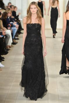 Ralph Lauren FW15 :: Kate Grigorieva   dark angel material. would absolutely KILL to have an occasion to buy/wear this.