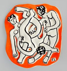 View details of Fernand Leger The Acrobats (Les Acrobates), 1954, a terracotta low relief sculpture from the edition of 250. See purchasing info.