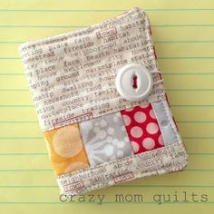 crazy mom quilts: Needlebook tutorial. Ideas for scraps