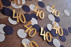40th Birthday Decoration. Ships in 1-3 Business Days. 40 Number Confetti 50CT.