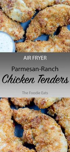 Easy Air Fryer Parmesan Ranch Chicken Tenders: With a delicious, perfectly seasoned coating, the whole family will love these air fryer chicken tenders! Air Fryer Recipes Chips, Air Fryer Recipes Chicken Tenders, Air Frier Recipes, Air Fryer Dinner Recipes, Chicken Tender Recipes, Air Fryer Recipes Easy, Chicken Tenderloin Recipes Healthy, Baked Chicken, Tiramisu Cookies