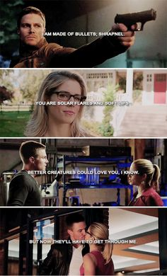 """But now they'll have to get through me."" Arrow"
