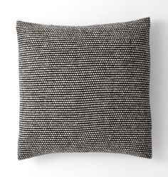 "Wool Tweed Emphasize Pillow Cover - Black & White 20"" x 20"" C2595 mix in anywhere (4)"
