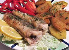 Úhoř na francouzský způsob » Rybářský rozcestník Sushi, Sausage, Chicken, Meat, Sausages, Cubs, Sushi Rolls, Chinese Sausage