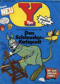 """""""Und dann gab es da noch das  Kinderüberraschungsei der  Comic Hefte:Yps mit Gimmick.  Meine liebsten Gimmicks  waren damals die  mexikanischen Springbohnen,  die nichts anderes waren als  Raupen in Bohnen verpuppt,  und natürlich die Urzeitkrebse."""" Meine auch!!!"""