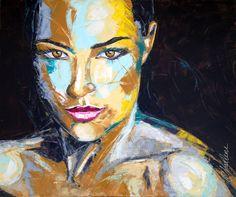 Saatchi Online Artist: Charlene van den Eng; Oil, 2012, Painting Femme 15, 120 x 100 cm.