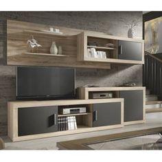 Olaf nappali bútor sonoma tölgy/szürke színben Centro Tv, Decoration, Living Room Designs, Bookcase, Shelves, House, Home Decor, Furniture Ideas, Google
