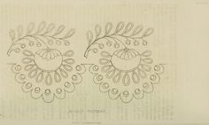EKDuncan - My Fanciful Muse: Regency Era Needlework Patterns from Ackermann's Repository Mexican Embroidery, Embroidery Motifs, Types Of Embroidery, White Embroidery, Hand Embroidery Designs, Embroidery Books, Border Pattern, Pattern Art, Pattern Design