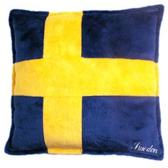 Pillow: Swedish Flag / Sweden - Blue/Yellow, 28x28cm