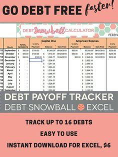 Debt Tracker Printable Debt Snowball Finance Planner Inserts