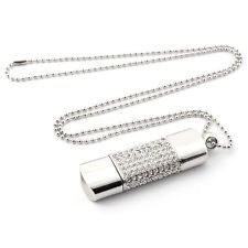 Fastdisk 8GB 2.0 USB Flash Drive Jump Drive Metal Diamond Necklace Memory Pen