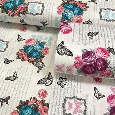 Kelebekli güller poplin kumaş isimli ürünümüzü sitemizden satın alabilirsiniz.En 240 cm metresi 12.50 %100 pamuklu çarşaflık kumaşlardır. #intaslar #kumaş #poplin #poplinkumaş #çarşaflık #yastık #nevresim
