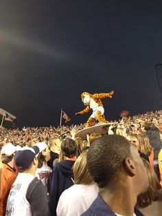 You know you wished your mascot crowd surfed.  <3 Aubie!