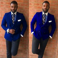 This so ,so smooth! African Men Fashion, Mens Fashion, Men Closet, Dandy, Elegant Dresses, Royal Blue, Gentleman, Suit Jacket, Dressing