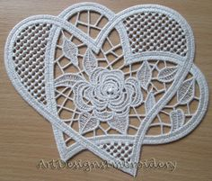 Vintage Embroidery Designs Excited to share the latest addition to my Embroidery Hearts, Embroidery Flowers Pattern, Learn Embroidery, Rose Embroidery, Machine Embroidery Patterns, Vintage Embroidery, Flower Patterns, Embroidery Thread, Hand Embroidery Tutorial