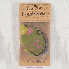 """""""Think Happy Be Happy"""" Green Hedgehog Air Freshener by Natural Life"""
