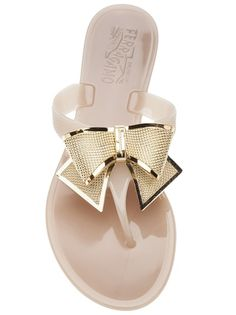 The next addition to my bow collection! Salvatore Ferragamo Bali jelly sandal.