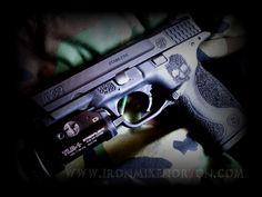 My Smith & Wesson M&P with custom stipling. #guns #firearms #2ndamendment #9mm #handgun