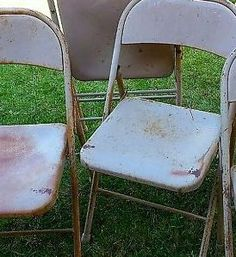 """""""I have the same folding chairs & I'm SO stealing your idea"""""""