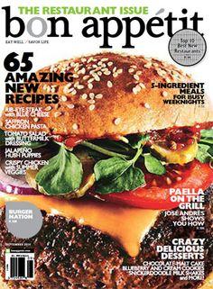 September 2010 Table of Contents - Bon Appétit