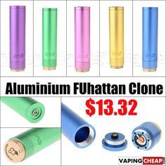 Aluminium FUhattan Mod Clone - $14.03 China - http://vapingcheap.com/aluminium-fuhattan-mod-clone/