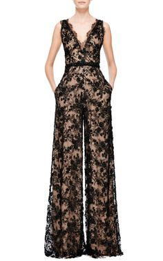 Marchesa Spring/Summer 2015 Trunkshow Look 19 on Moda Operandi Más Hijab Fashion, Fashion Dresses, Marchesa Spring, Lace Jumpsuit, Chantilly Lace, Mode Hijab, Beautiful Outfits, Marie, Party Dress