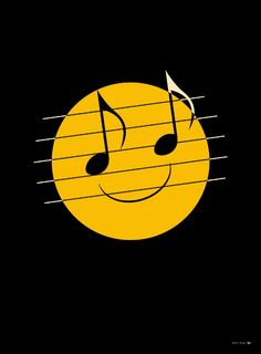 Smiley face with note eyes Sound Of Music, Music Love, Music Is Life, Music Images, Music Pictures, Music Lyrics, Music Quotes, Film Quotes, Foto Fantasy