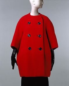 Coat House of Dior (French, founded 1947) Designer: Yves Saint Laurent Date: 1960