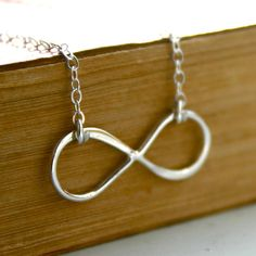 Sterling silver Infinity necklace by JustJaynes on Etsy, $23.50