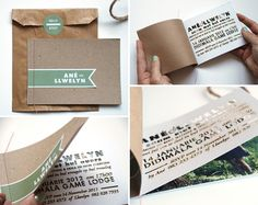 Woodsy Laser Cut Booklet Wedding Invites