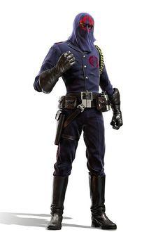 Digital Illustration of Cobra Commander, Leader of the Cobra Force enemy of the G.I. Joes, illustrated by JeffMiller