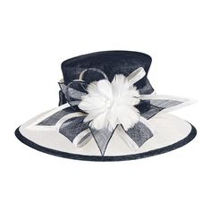 Navy Blue and White Kentucky Derby Tea Party Church by Masinaco