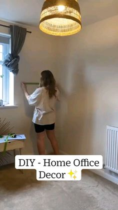 Cozy Home Office, Home Office Decor, Diy Home Decor, Cozy Living, Diy Wall Art, Home Hacks, First Home, New Room, Cozy House