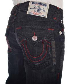 True Religion Mens Straight w/ Flaps Jeans Size 36 Super T, Pacific Dreams $405 #TrueReligion #ClassicStraightLeg
