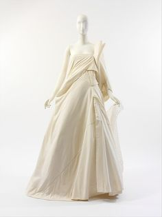 Yohji Yamamoto (Japanese, born Yokohama, 1943) | Wedding dress | Japanese | The Met( spring/summer 2000 Medium:a) cotton, nylon, silk; b) cotton, nylon