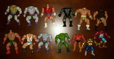 13 - vintage 80's motu cotu sewco combo mannix galaxy fighters ko fodder pieces from $45.0