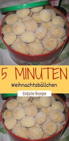 5 minute Christmas balls - Ingredients 250 g butter 100 g sugar 1 pck. Vanilla sugar 300 g flour 100 g almond (s), ground 100 - Easy Snacks, Easy Healthy Recipes, Healthy Snacks, Easy Meals, Dinner Healthy, Vegan Recipes, Cupcake Recipes, Cookie Recipes, Dessert Recipes