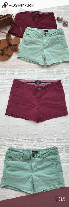 Cute size 4 gently used American Eagle shorts 2 pair of American Eagle shorts, gently used but still with lots of life left! No known defects. American Eagle Outfitters Shorts