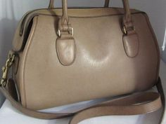 Vintage COACH Broadway Satchel Bag Putty Color Cowhide Leather Style 9891 RARE Made in USA. ◅