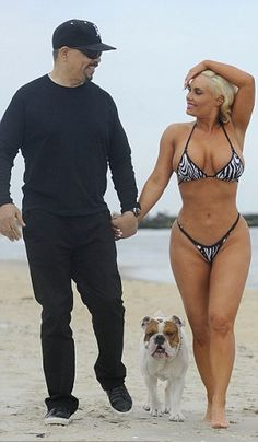 "Ice-T and his wife Coco Austin ""on the beach"" in New Jersey"