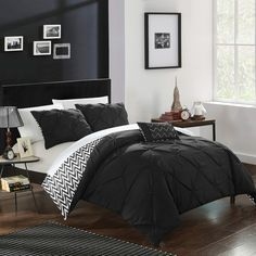 Chic Home Jacky Twin Comforter Set Bedding Comforter Sets, Black Comforter, Home, Grey Comforter Sets, Luxury Bedding, Twin Comforter Sets, Comforters, Black Comforter Sets, Chic Home