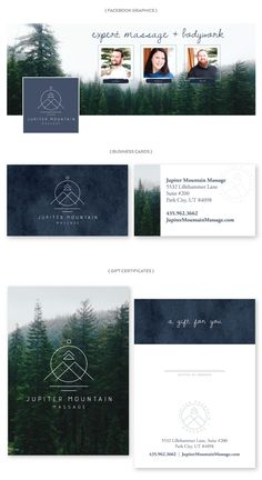 Modern Minimalistic Rustic Simple Logo - Business Card - Social Media Graphic…