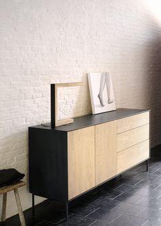 Ethnicraft Blackbird sideboard. Designed by Alain van Havre.