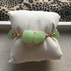 Green Seaglass Wire Wrap Bracelet by BaublesandBumblebees on Etsy