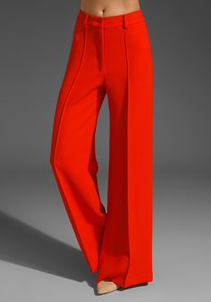 Wide leg. High waist. Bright red.  What more could a girl ask for?