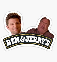 ben & jerrys parks and rec Sticker