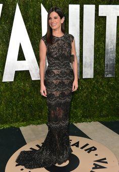 Sandra Bullock style Elie Saab, Oscars 2013