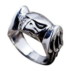 A hawk is one of the most respected biker totem animals. The love for this might bird found its embodiment in our Sterling Silver Hawk Ring expertly carved by hand Mens Rings For Sale, Unique Mens Rings, Rings For Men, Silver Skull Ring, Silver Man, Skull Rings, Sterling Silver Mens Rings, Biker Rings, Animal Rings