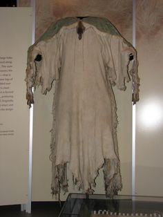 Stitching Up History: What Native American Women Wore - Pre Contact: The Two Hide Plains Dress